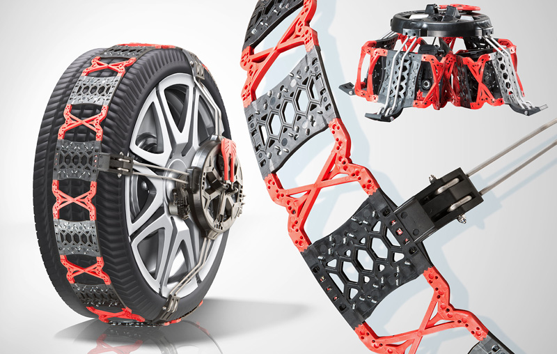 plastic snow chains