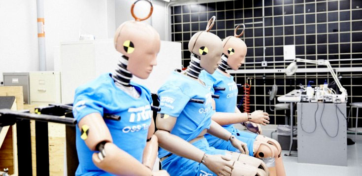 ZF TRW has a whole range of Hybrid III dummies in various sizes: 5th percentile female, 50th and 95th percentile male, as well as three- and six-year-old children.
