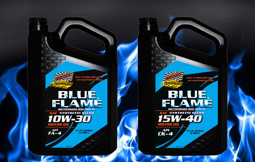 Champion Blue Flame FA-4 and CK-4 oils