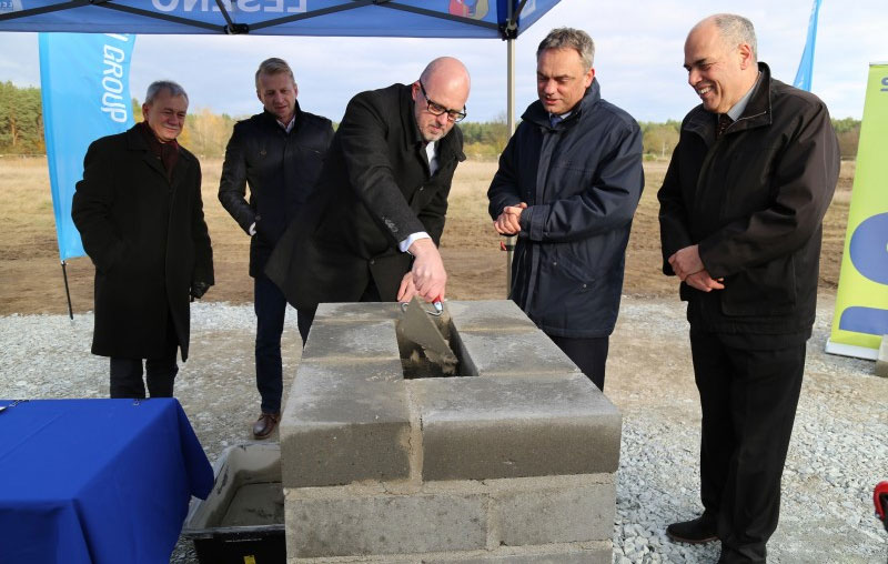 Harm Voortman, CEO and Guido Roncken, COO and other officials signed a foundation act which was buried in a cornerstone of VMI Poland Sp. z.o.o
