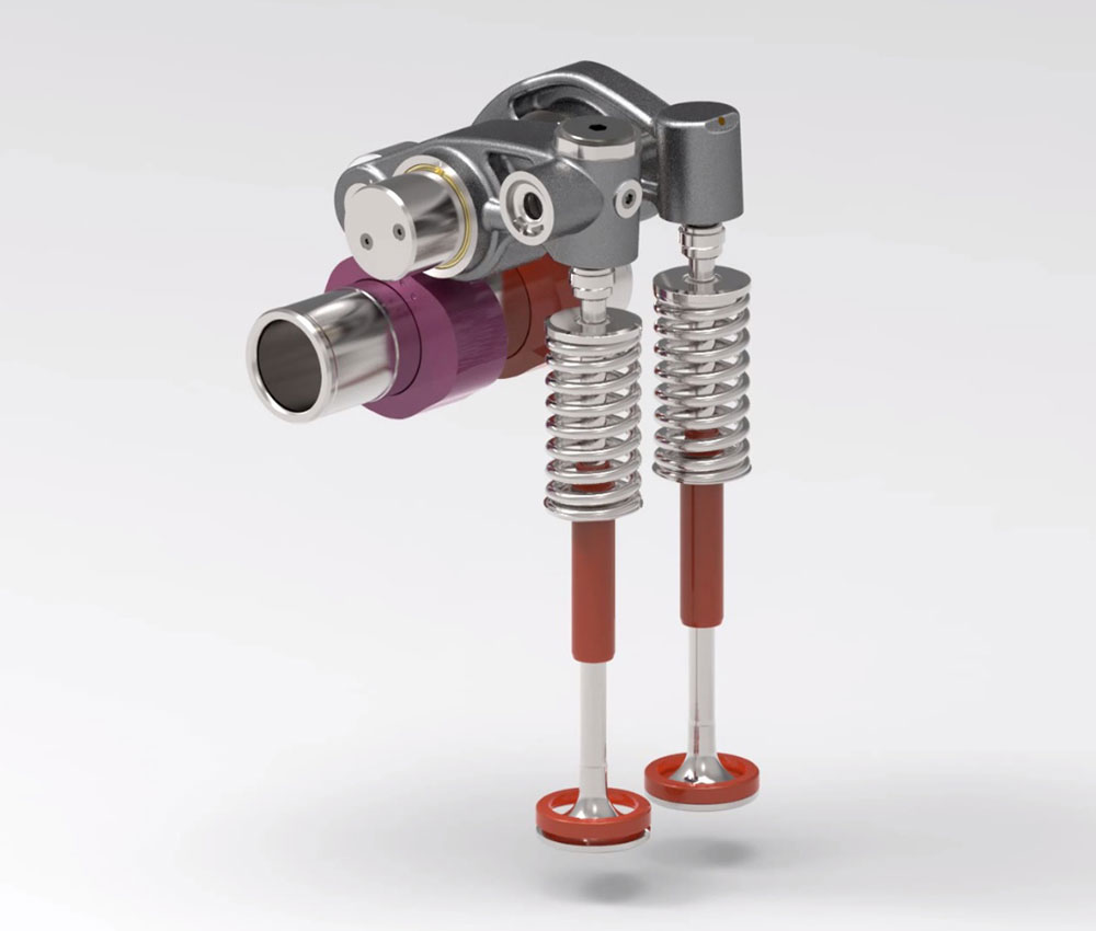 A compression engine brake in diesel engines is possible by introducing variable valve actuation.