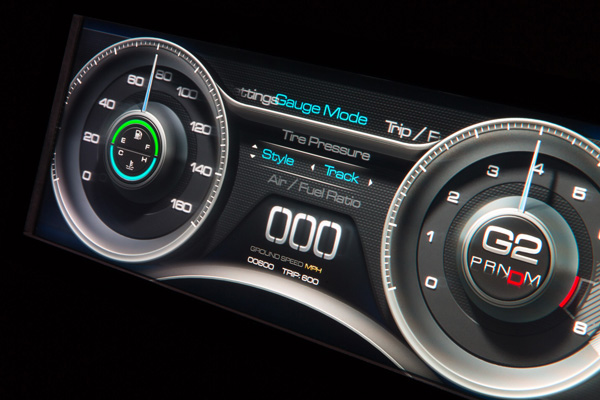 touch-free cockpit and 3D instrument cluster