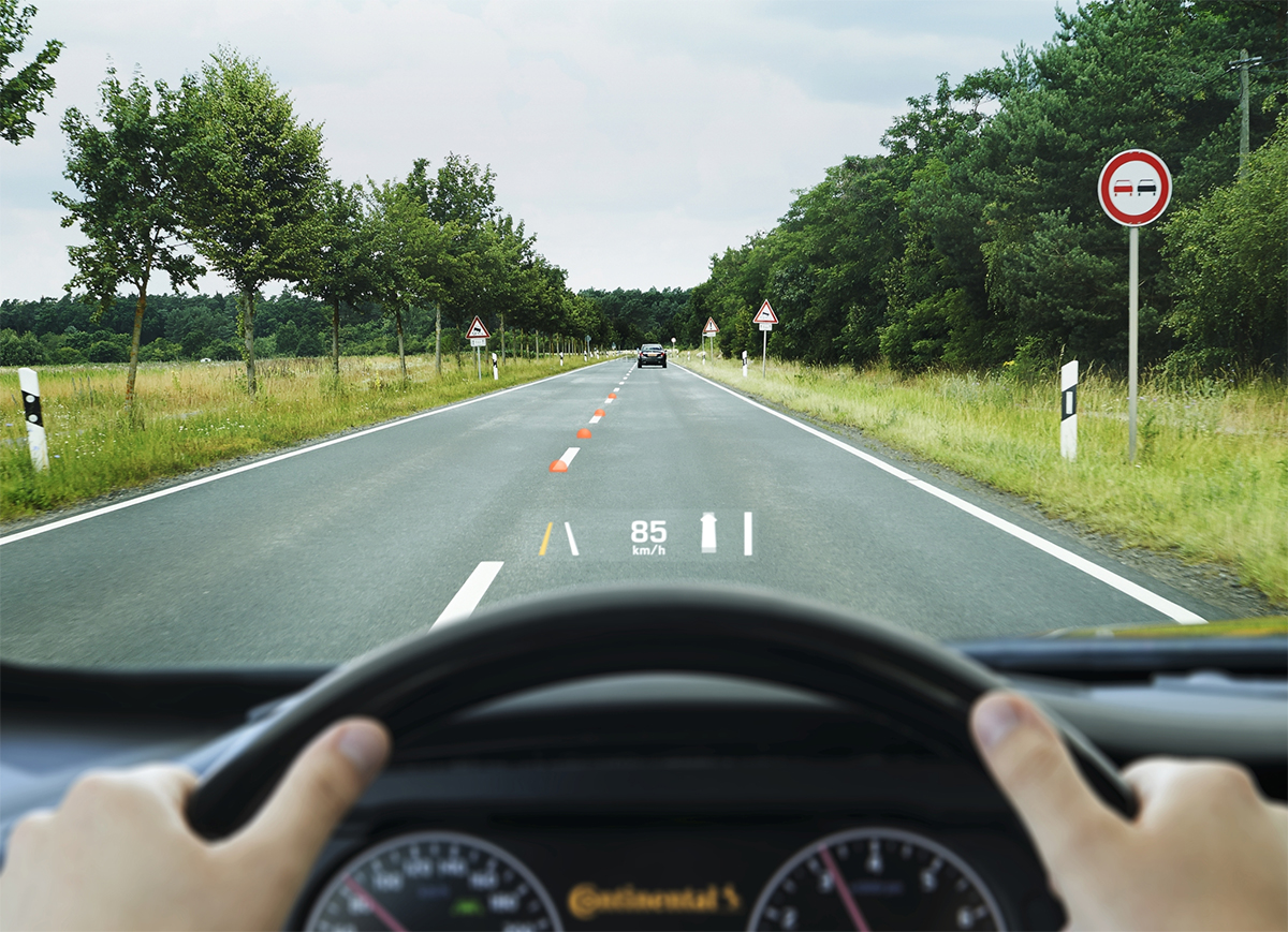 Continental head-up display (HUD)