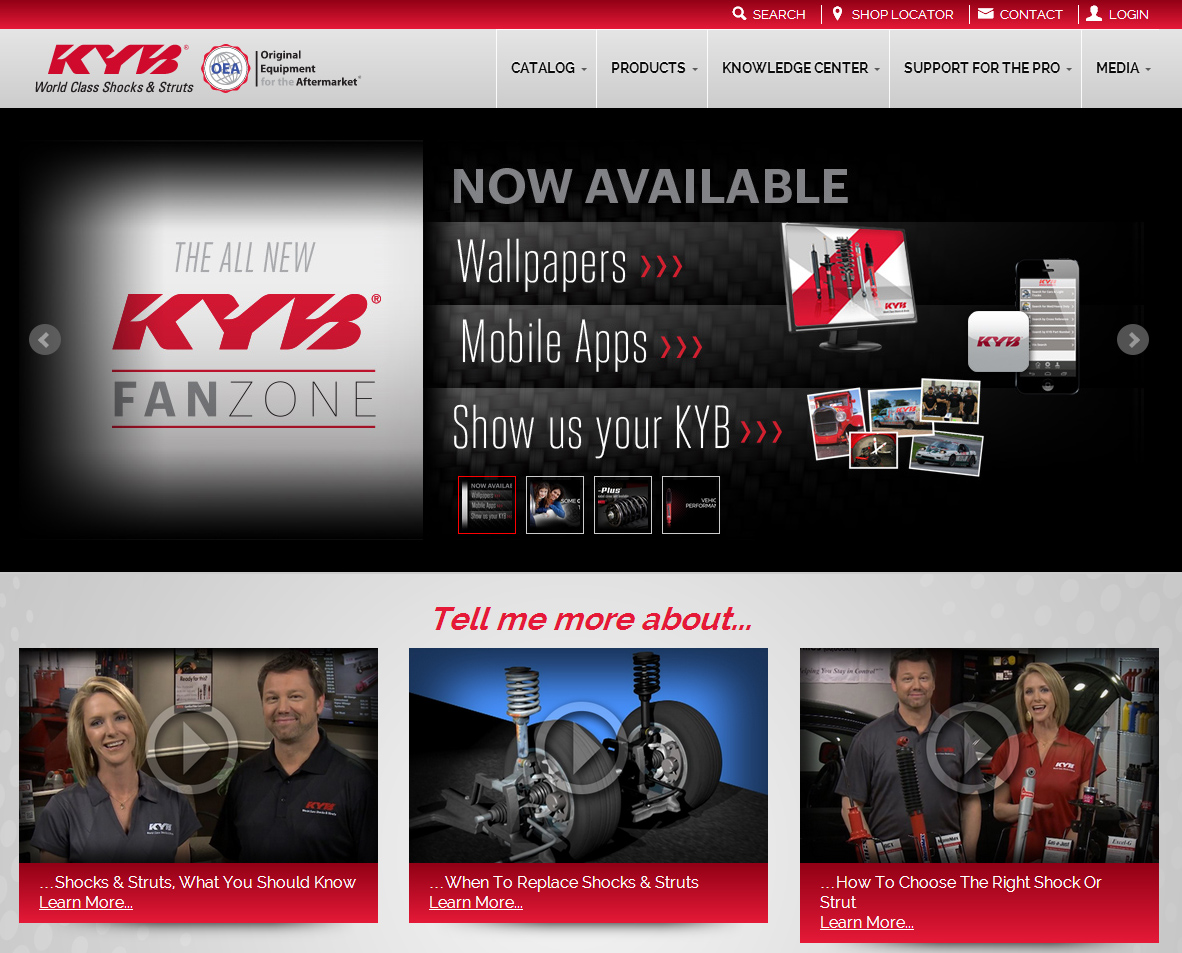 New KYB website