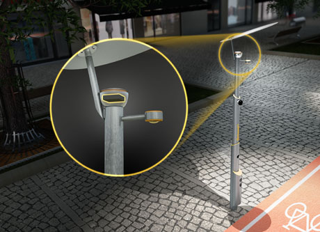 At the core of the smart street light: the Continental control unit.