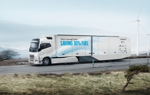 A Volvo concept truck with 30% lower fuel consumption
