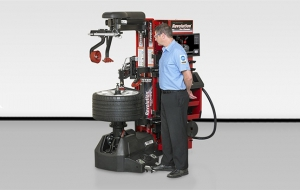 Hunter's Updated Revolution Tire Changer Features Smaller Footprint