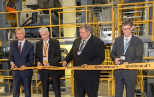 Continental opens rebuilt truck tyre production hall in Otrokovice