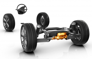 ZF: Active Kinematics Control: Steering Impulses from the Rear Axle