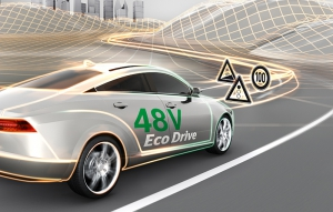 Efficiency and driving fun of 48 Volt hybridization further enhanced by eHorizon