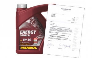 Mannol oil approved by VW