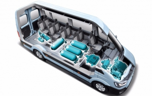 Hydrogen-enabled drivetrains for large vans and trucks